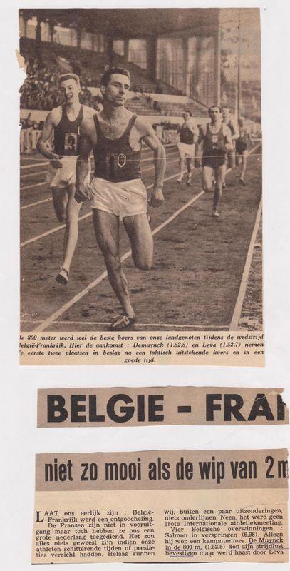 Belgie - Frankrijk juni '54