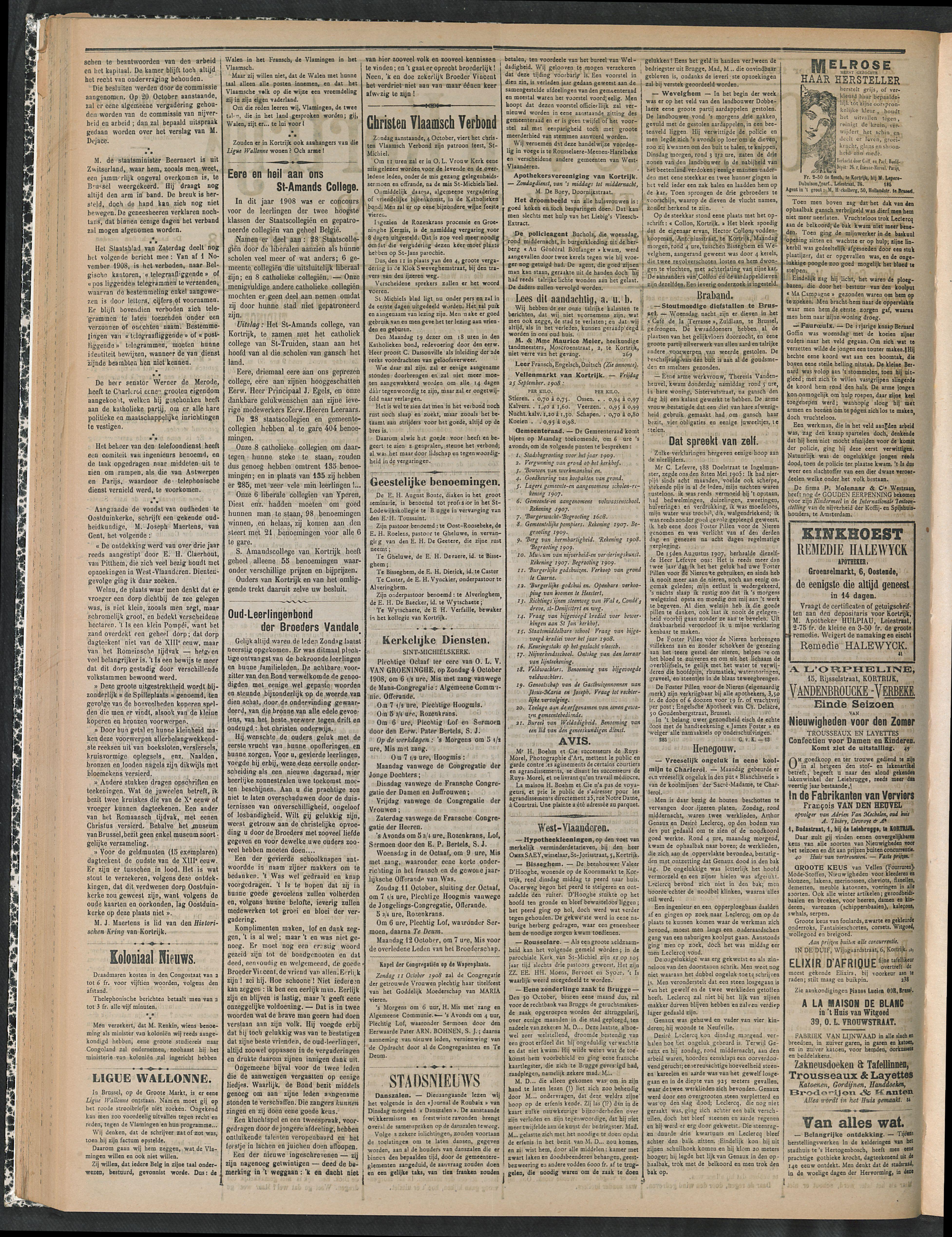 Gazette Van Kortrijk 1908-10-04 p2