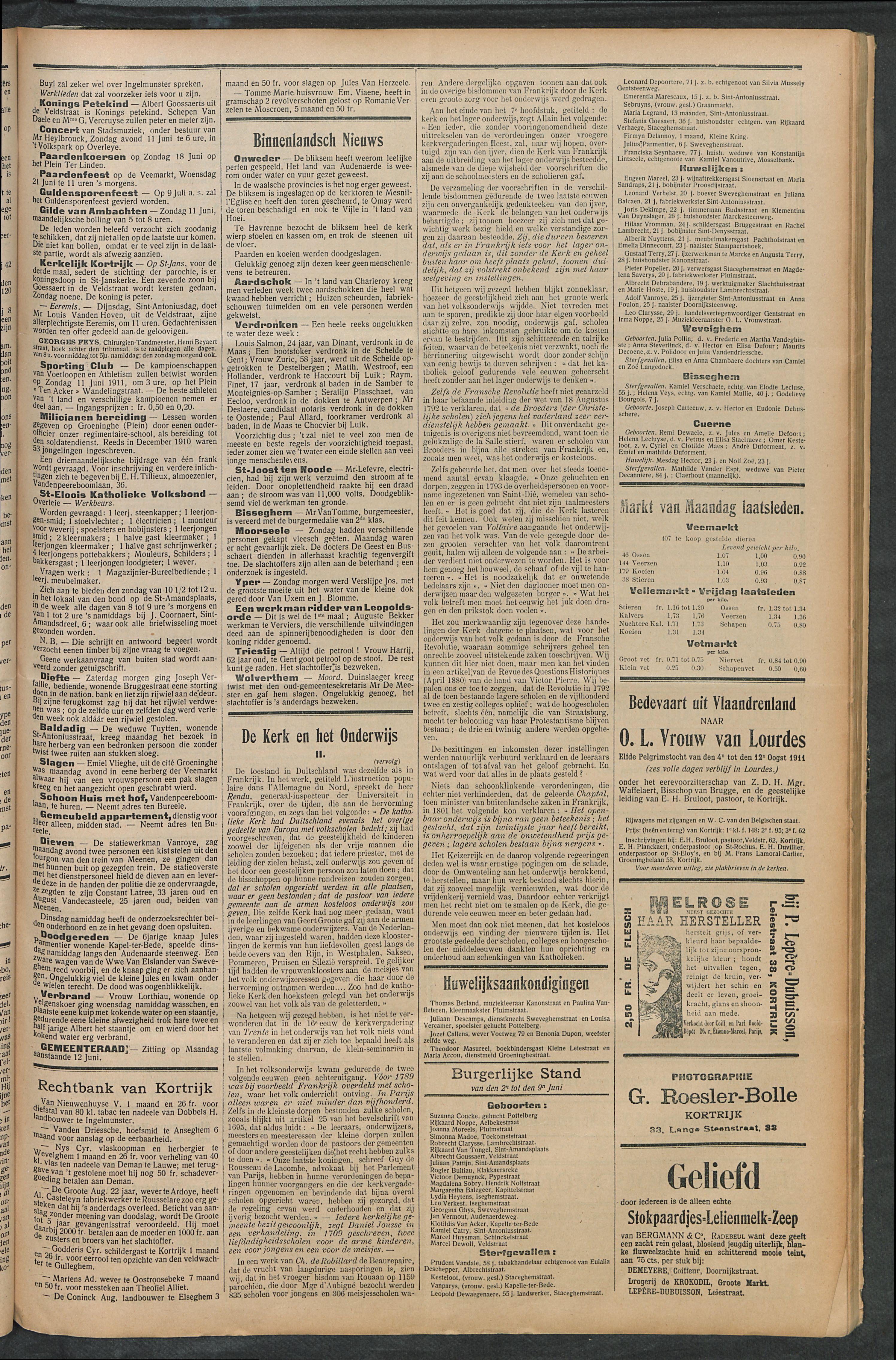 Het Kortrijksche Volk 1911-06-11 p3