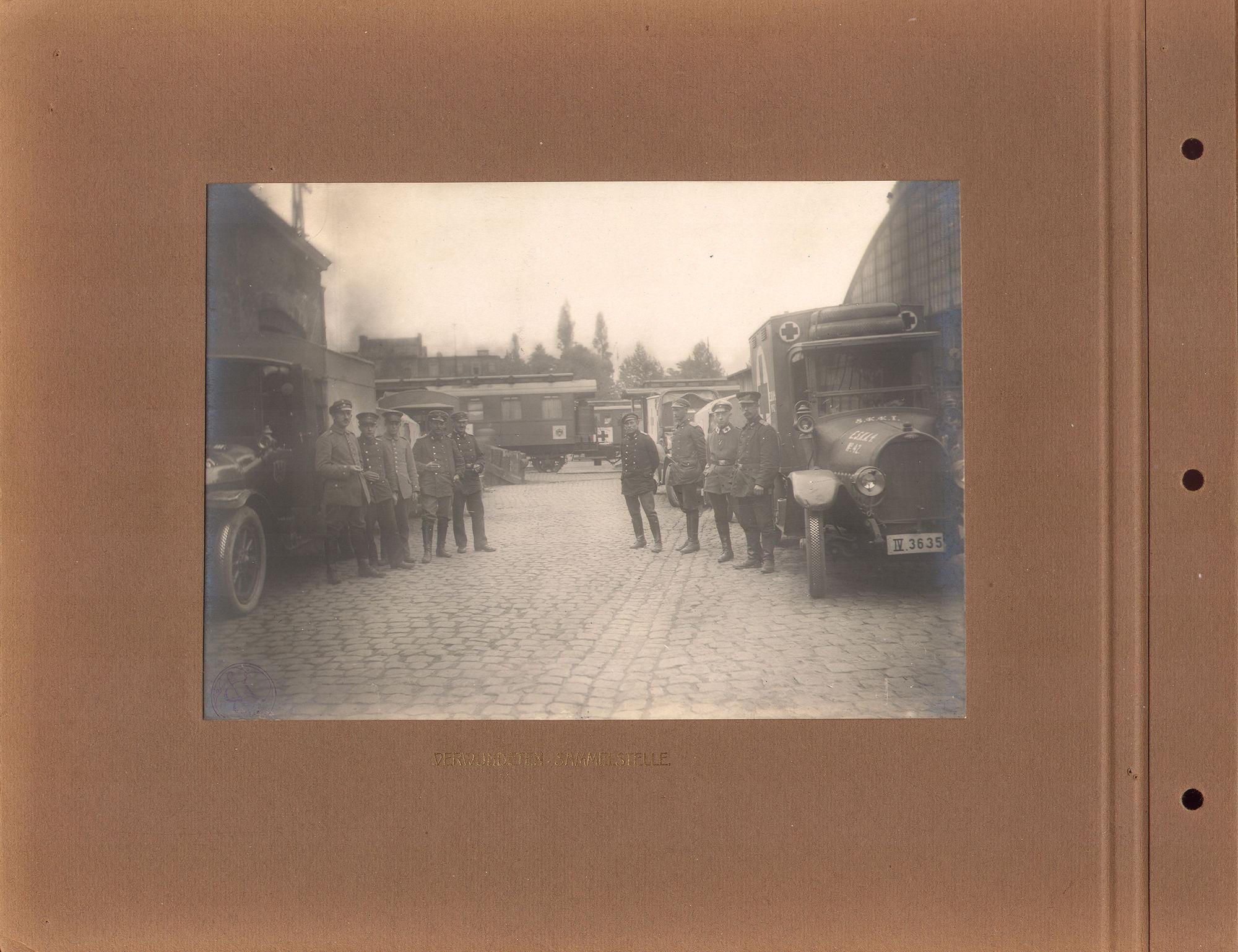 Transport gewonden tijdens Wereldoorlog I