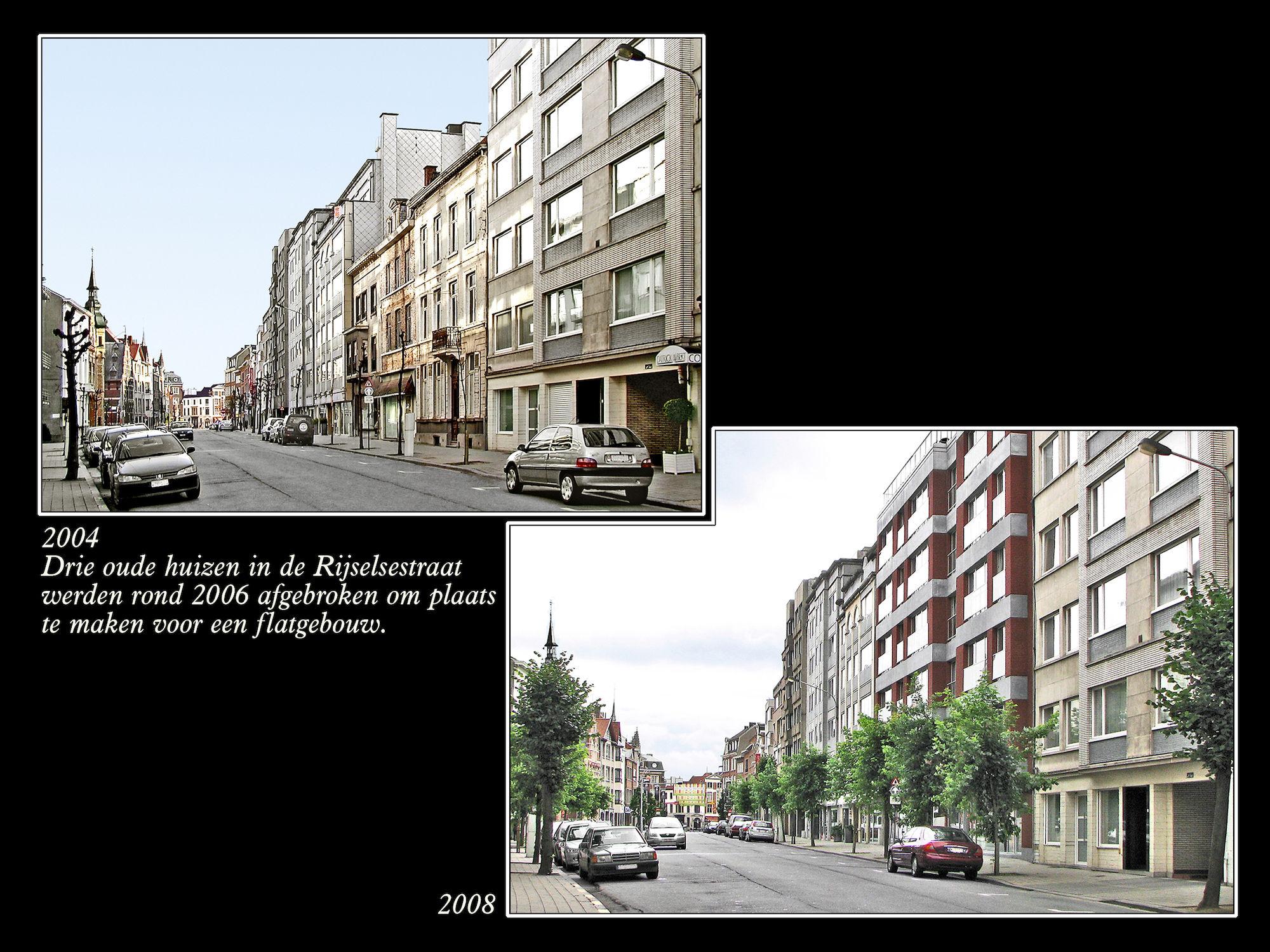 Rijselsestraat 2004 en 2008