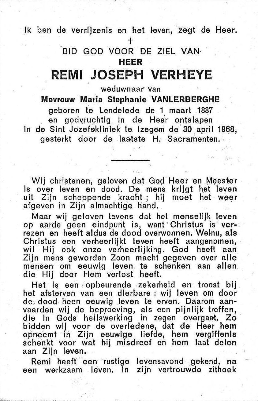 Remi-Joseph Verheye