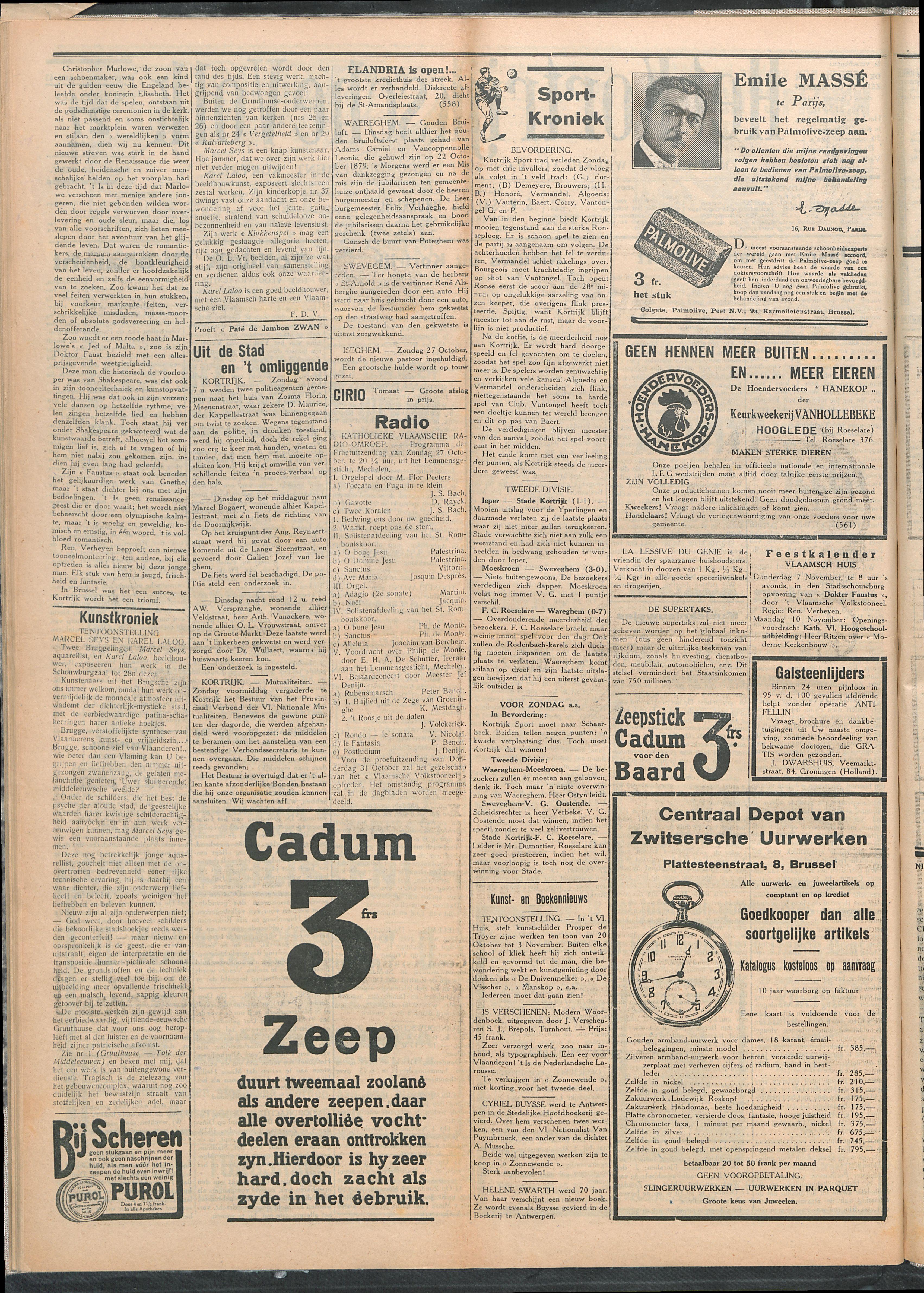 Het Kortrijksche Volk 1929-10-27 p2