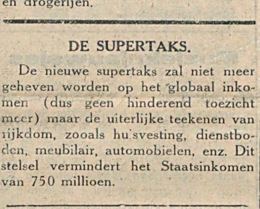 DE SUPERTAKS