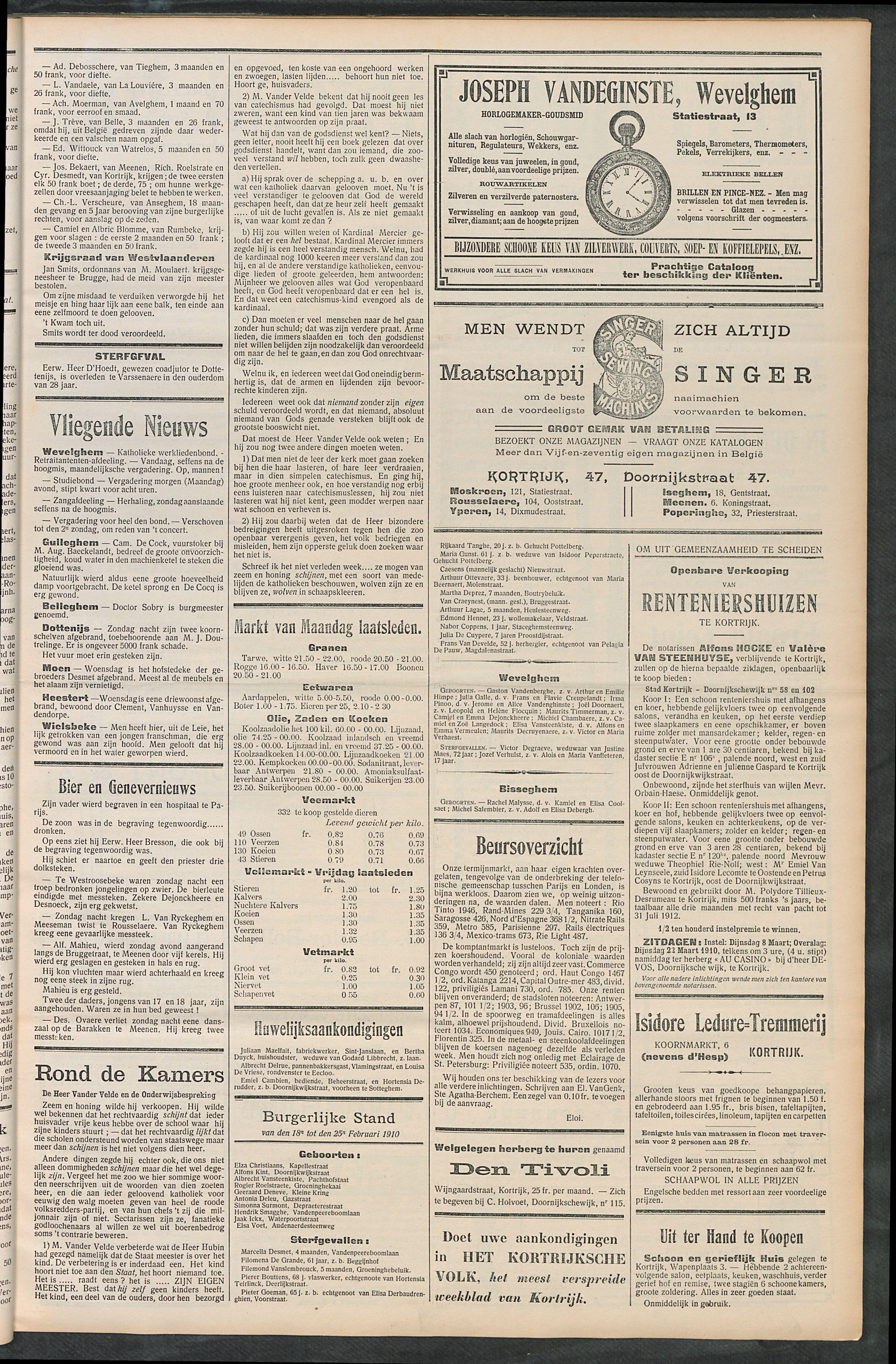 Het Kortrijksche Volk 1910-02-27 p3