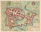 Plattegrond van Kortrijk ca 1641