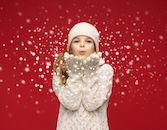 Meisje in sneeuw