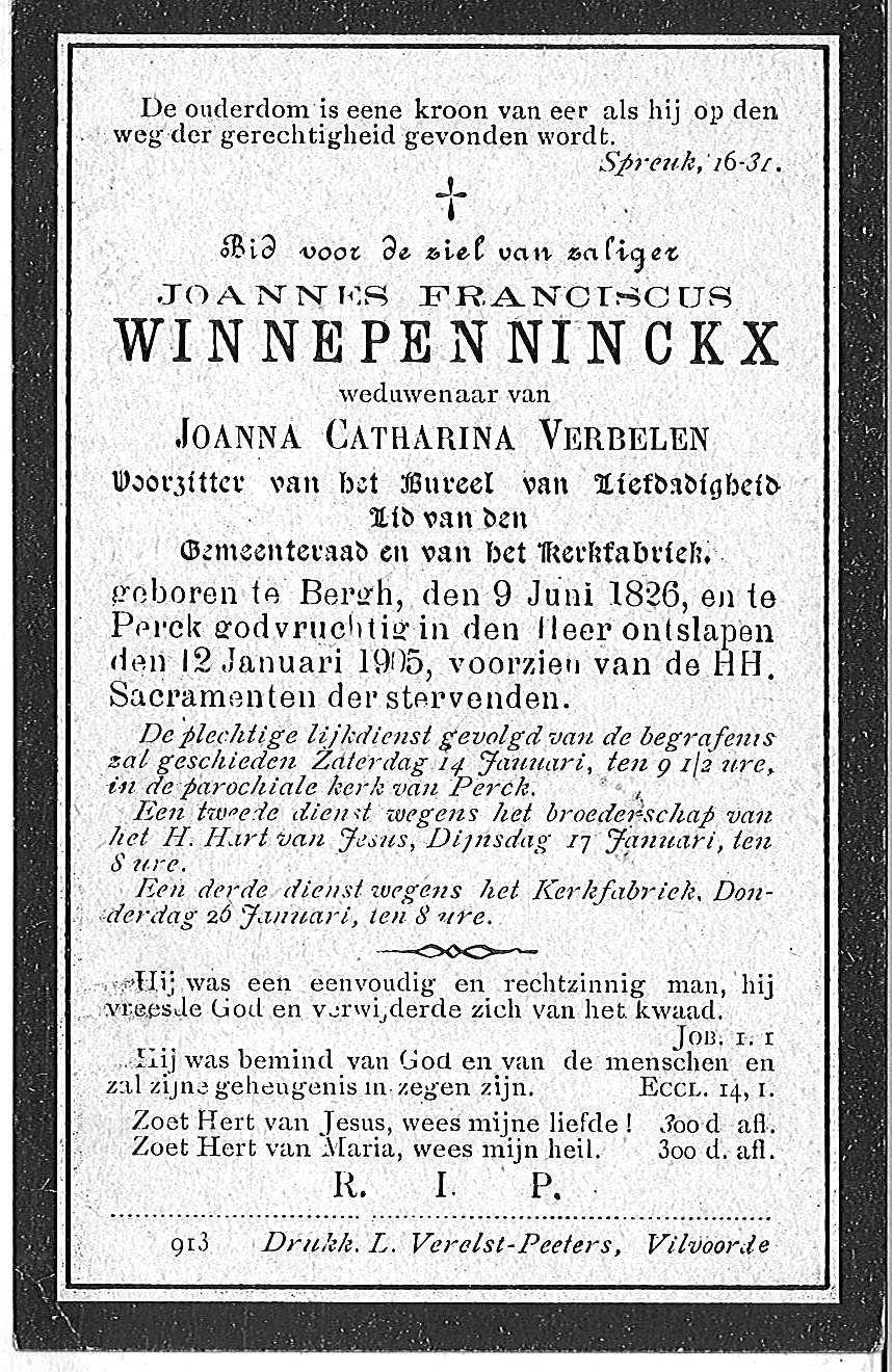 Joannes Franciscus Winnepenninckx