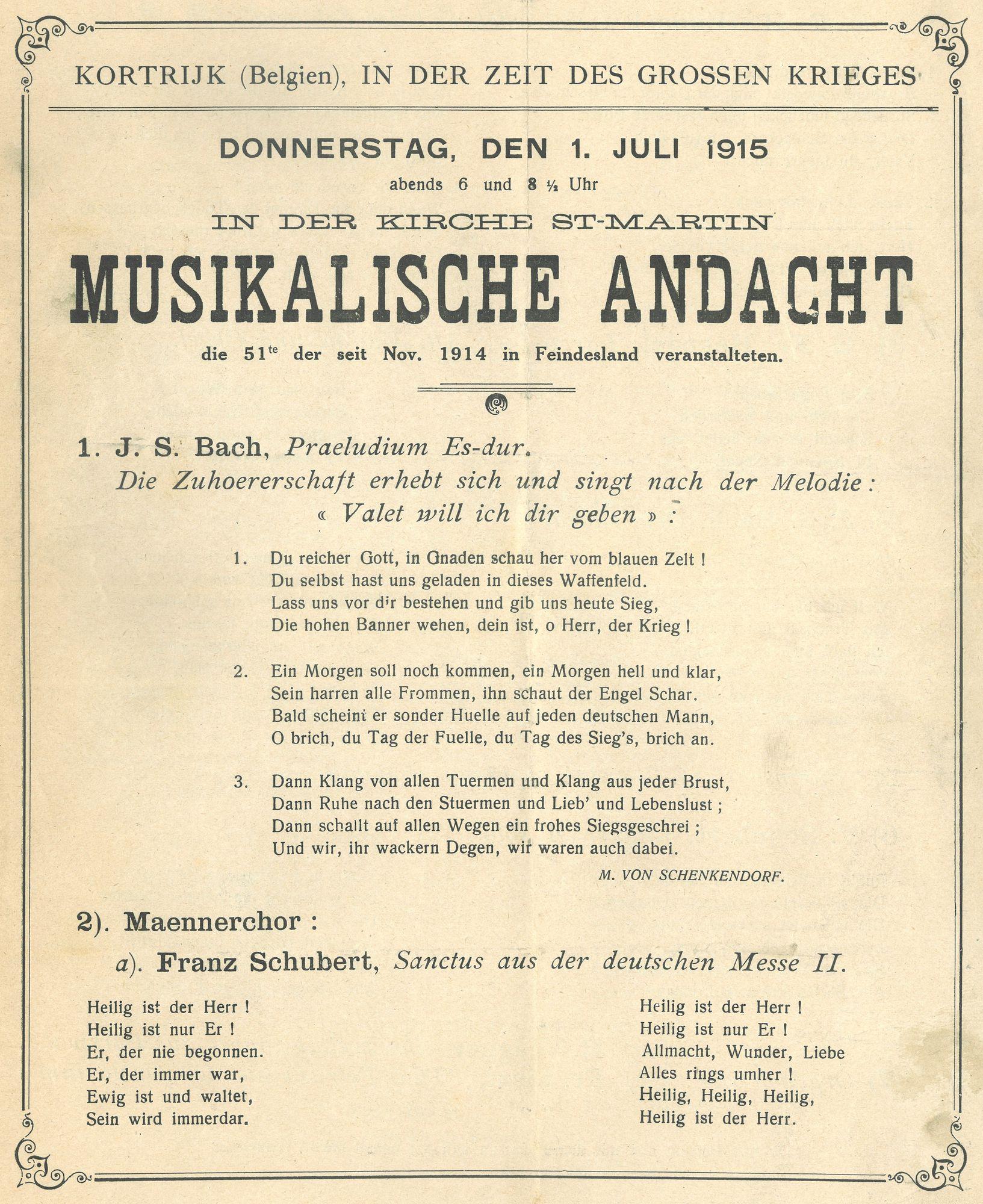 Concert in 1915
