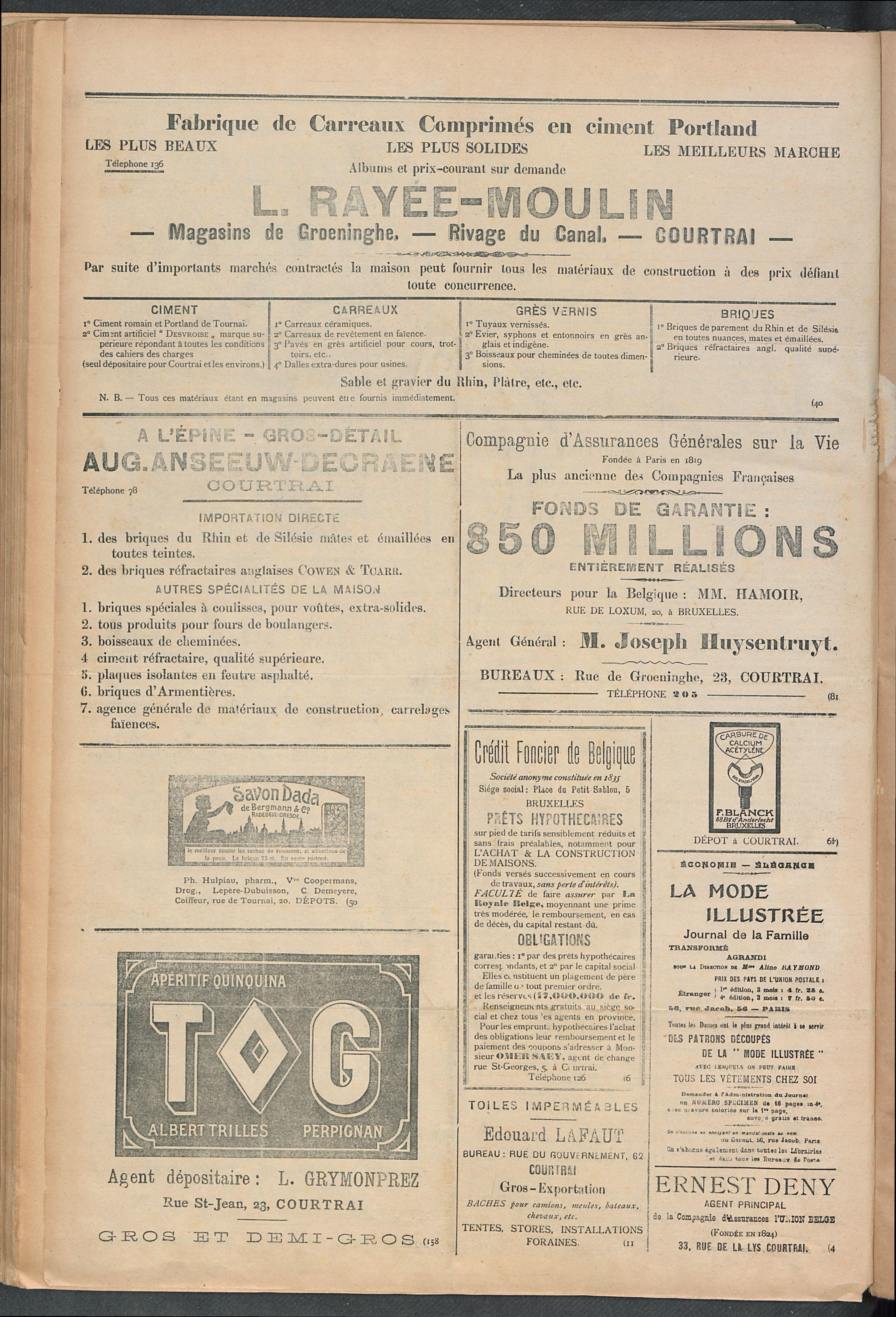 L'echo De Courtrai 1910-12-29 p4