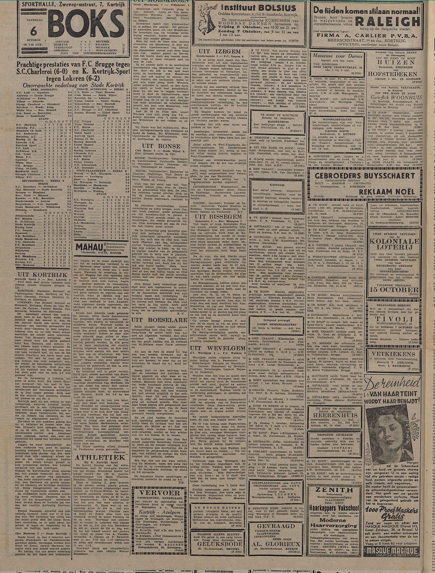 Kortrijksch Handelsblad 3 october 1945 Nr79 p2