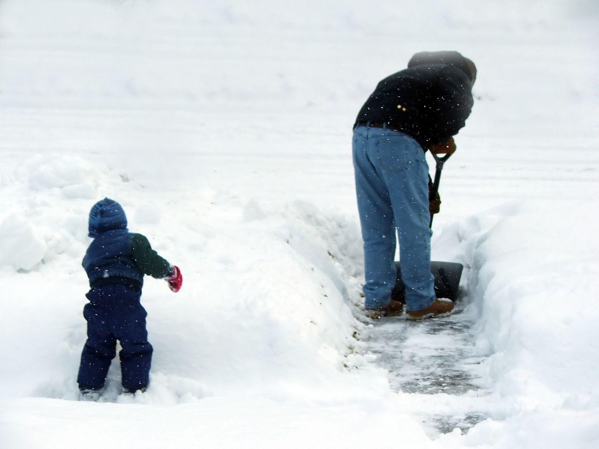 Werken in sneeuw