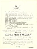 Martha-Klara Balcaen