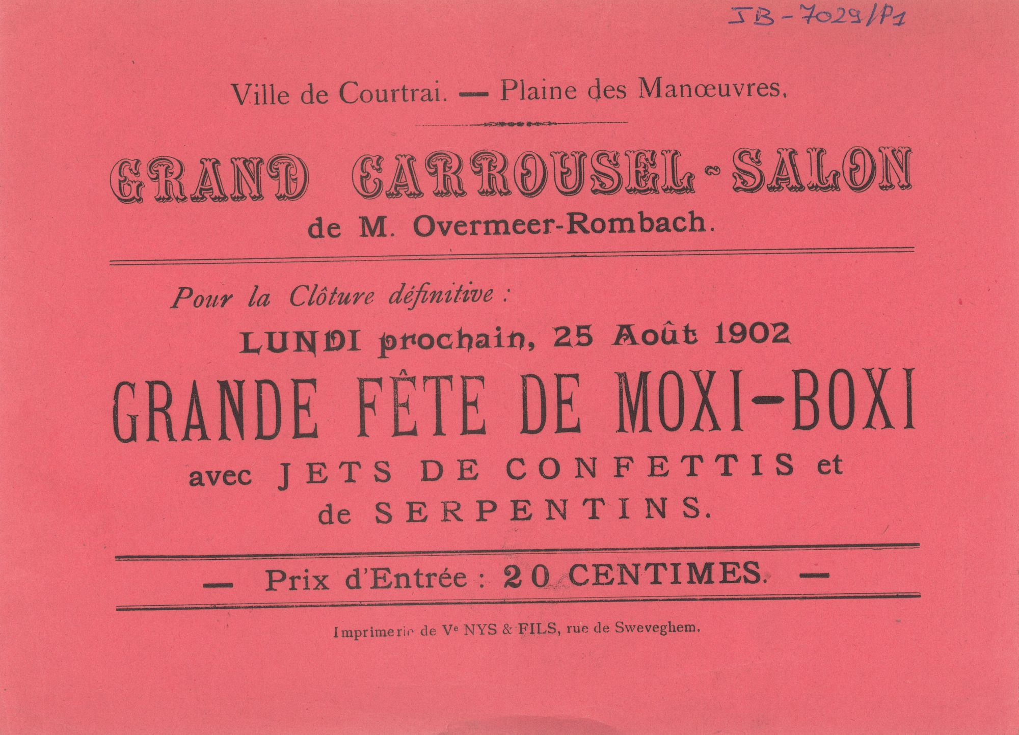 Paasfoor 1902: Grand Carrousel-Salon