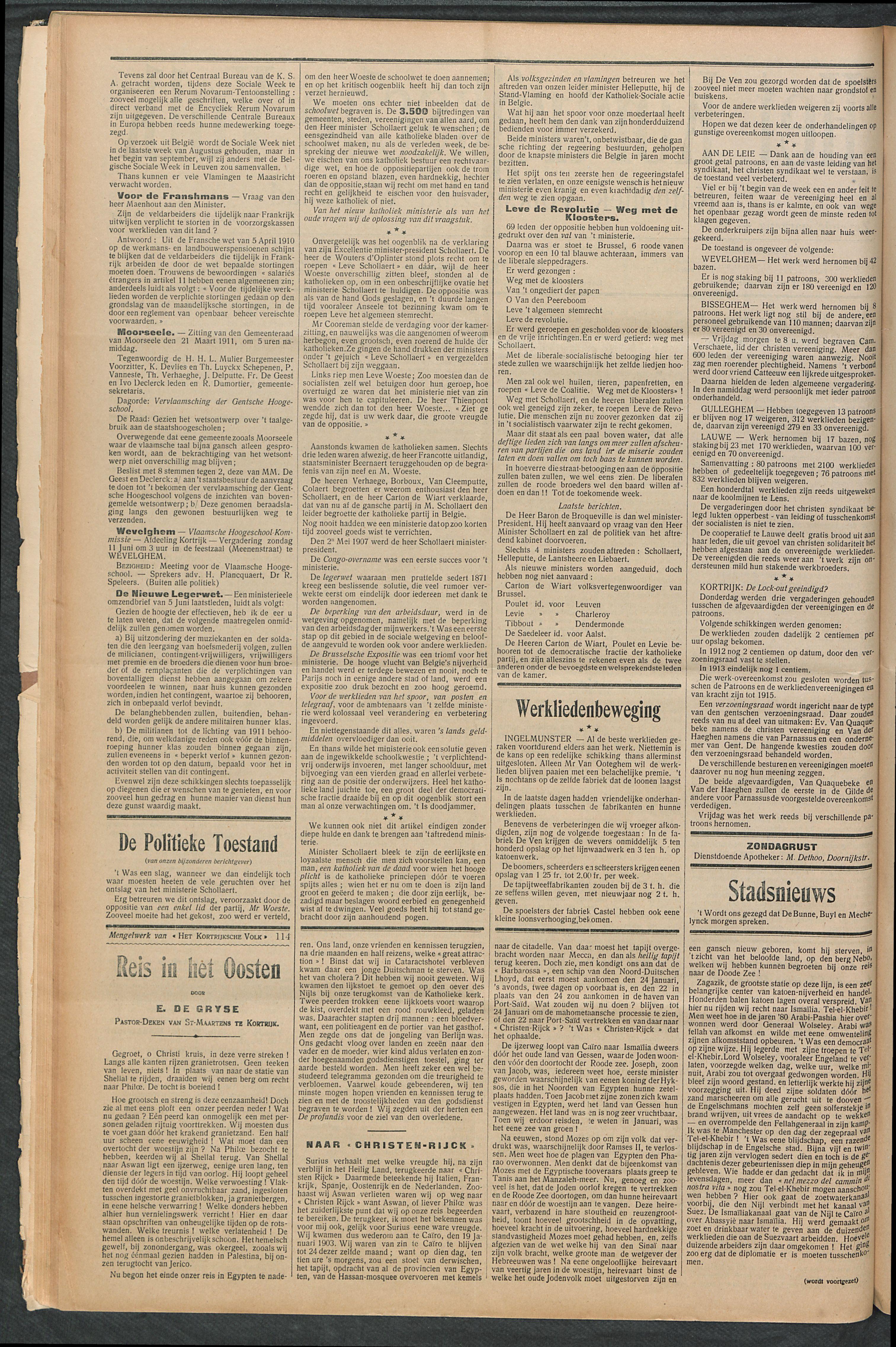 Het Kortrijksche Volk 1911-06-11 p2