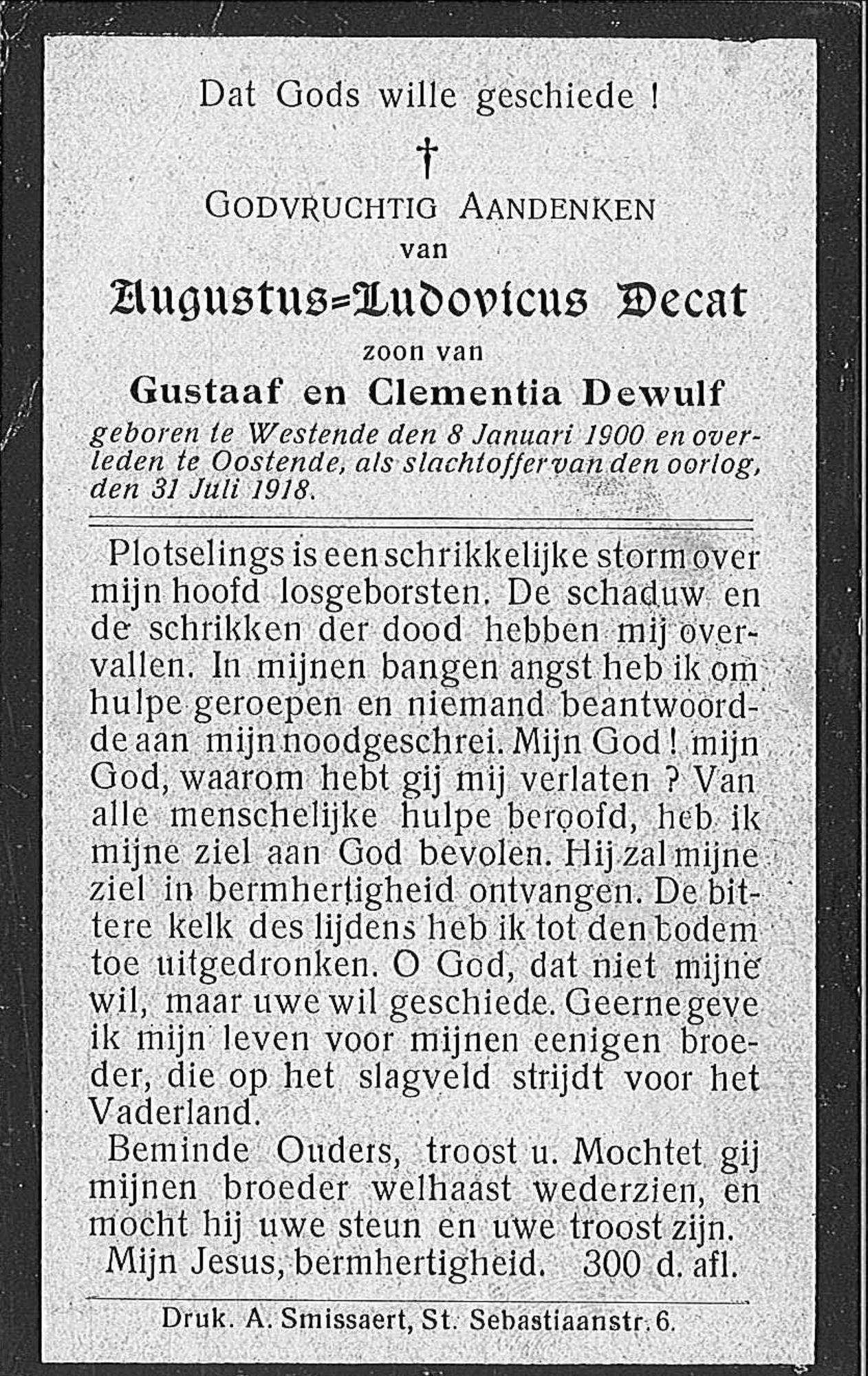 Augustus-Ludovicus Decat