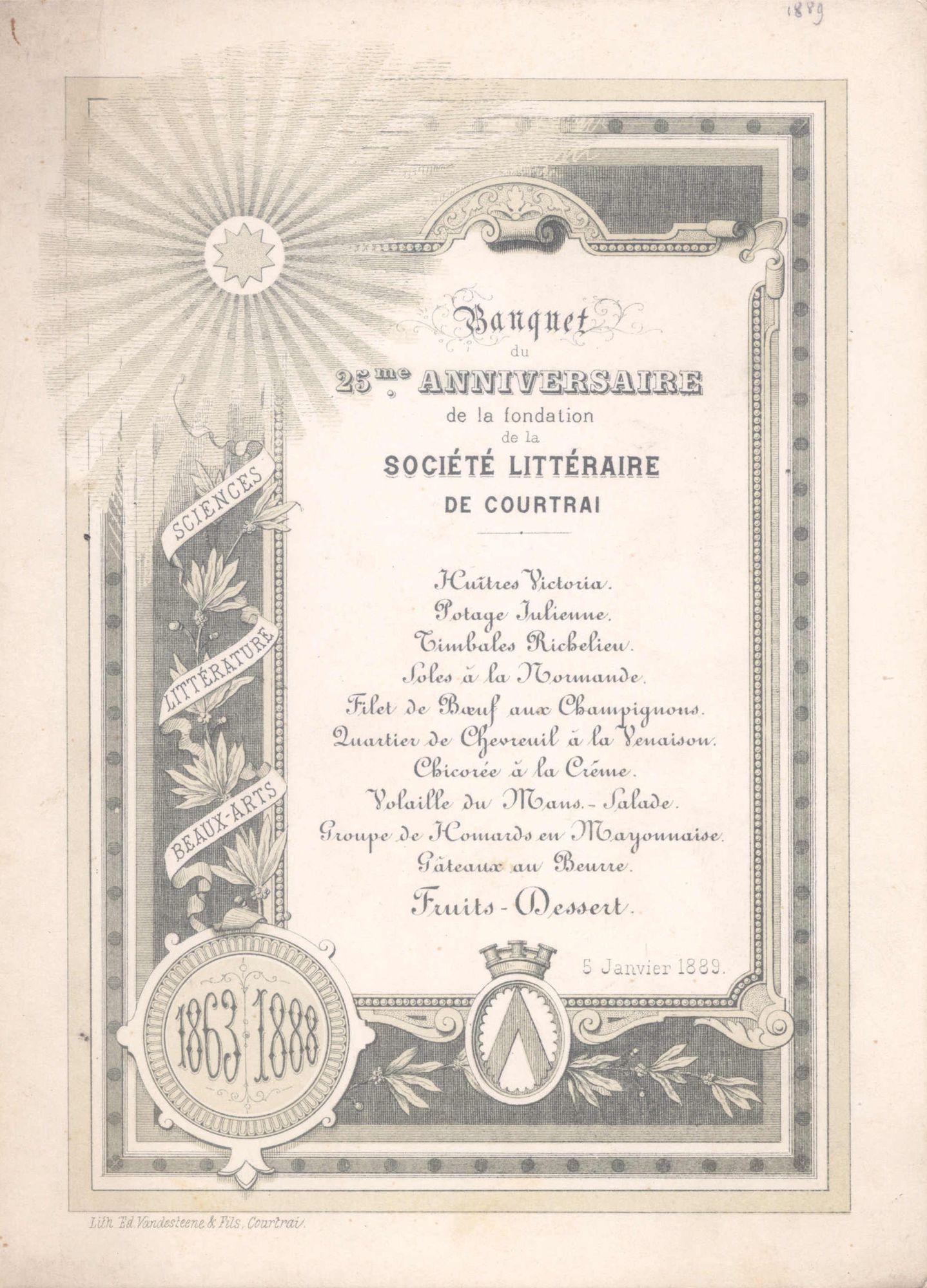 Société Littéraire de Courtrai 1989
