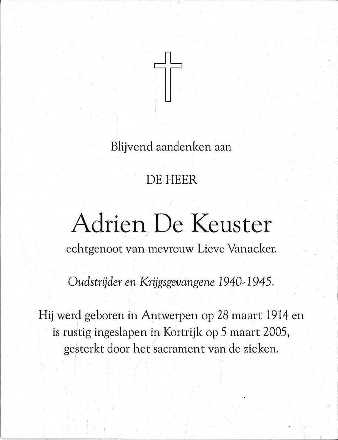Adrien De Keuster