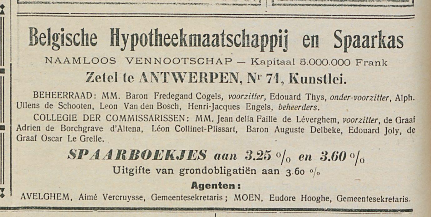 Belgische Hypotheekmaatschappij en Spaarkas