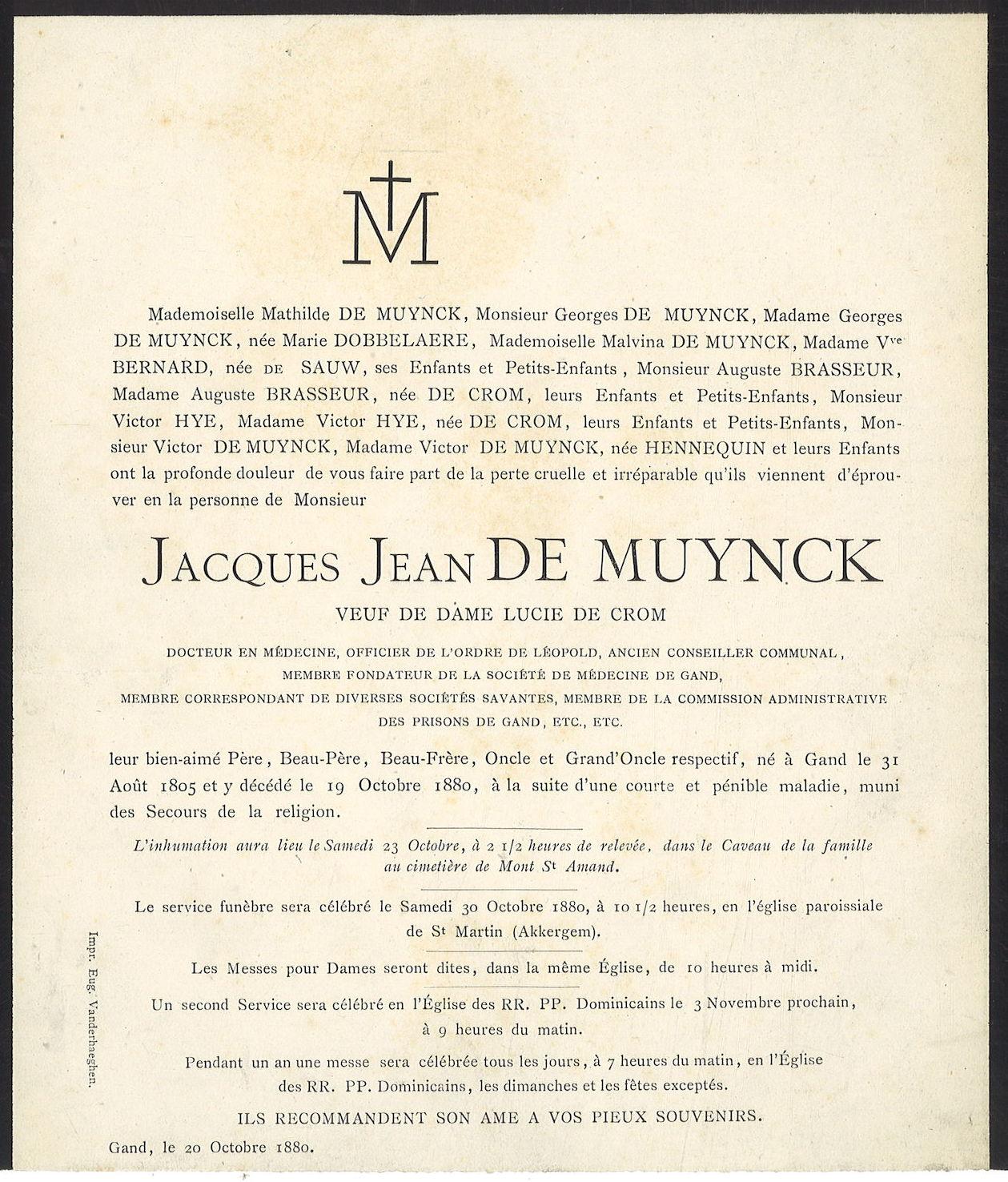 Jacques Jean De Muynck