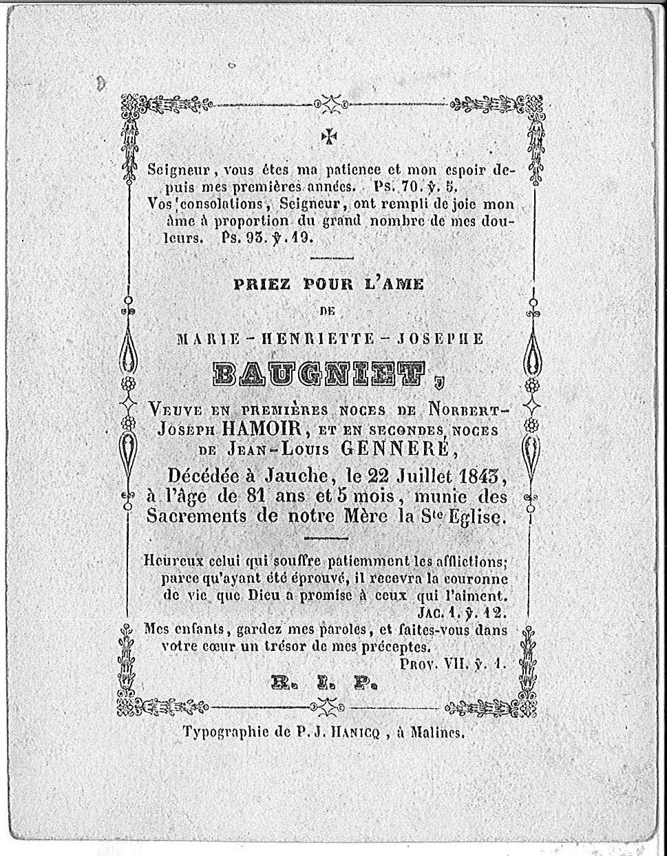 Marie-Henreitte-Josephe Baugniet