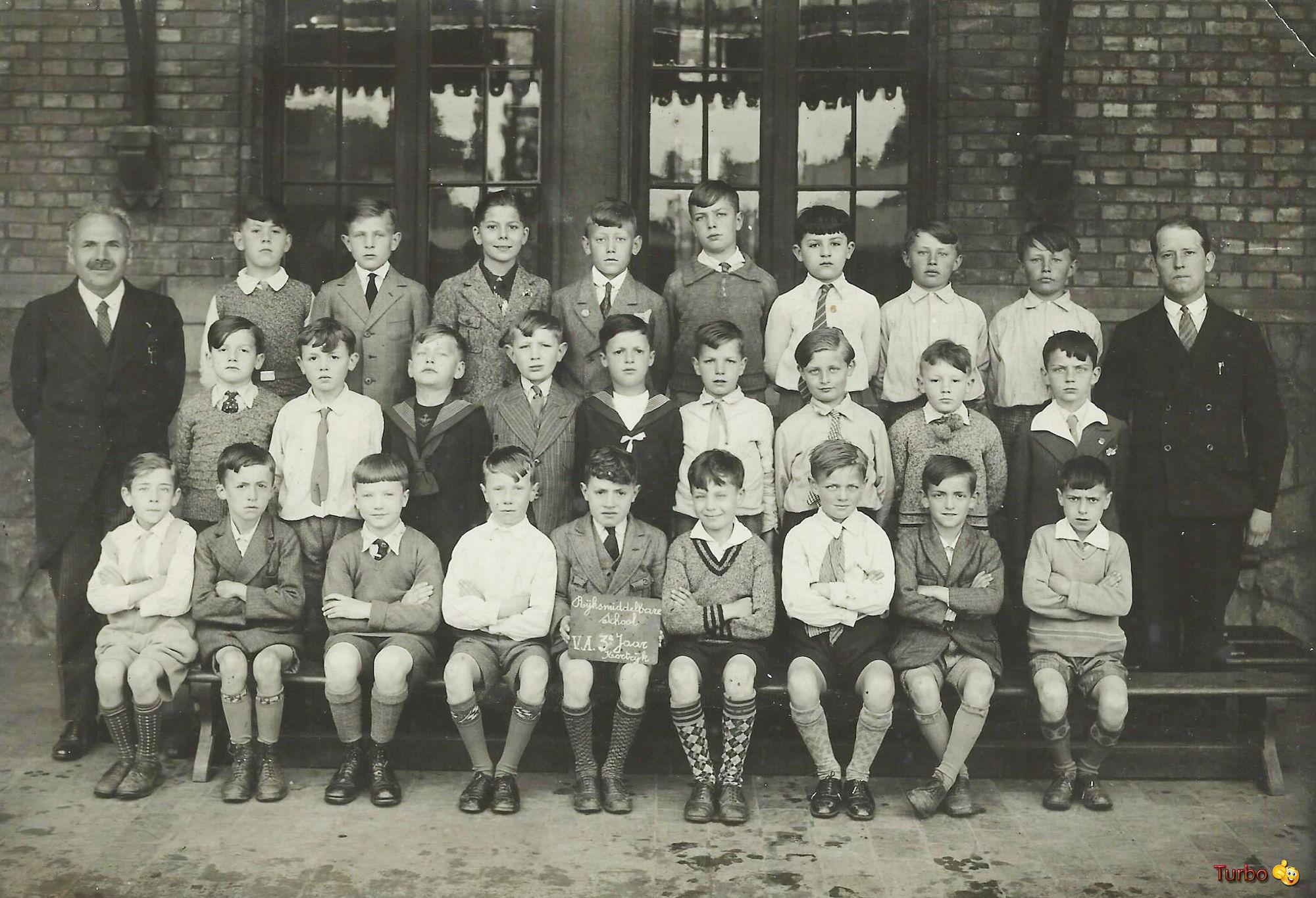 Schoolfoto Rijksmiddelbaar.