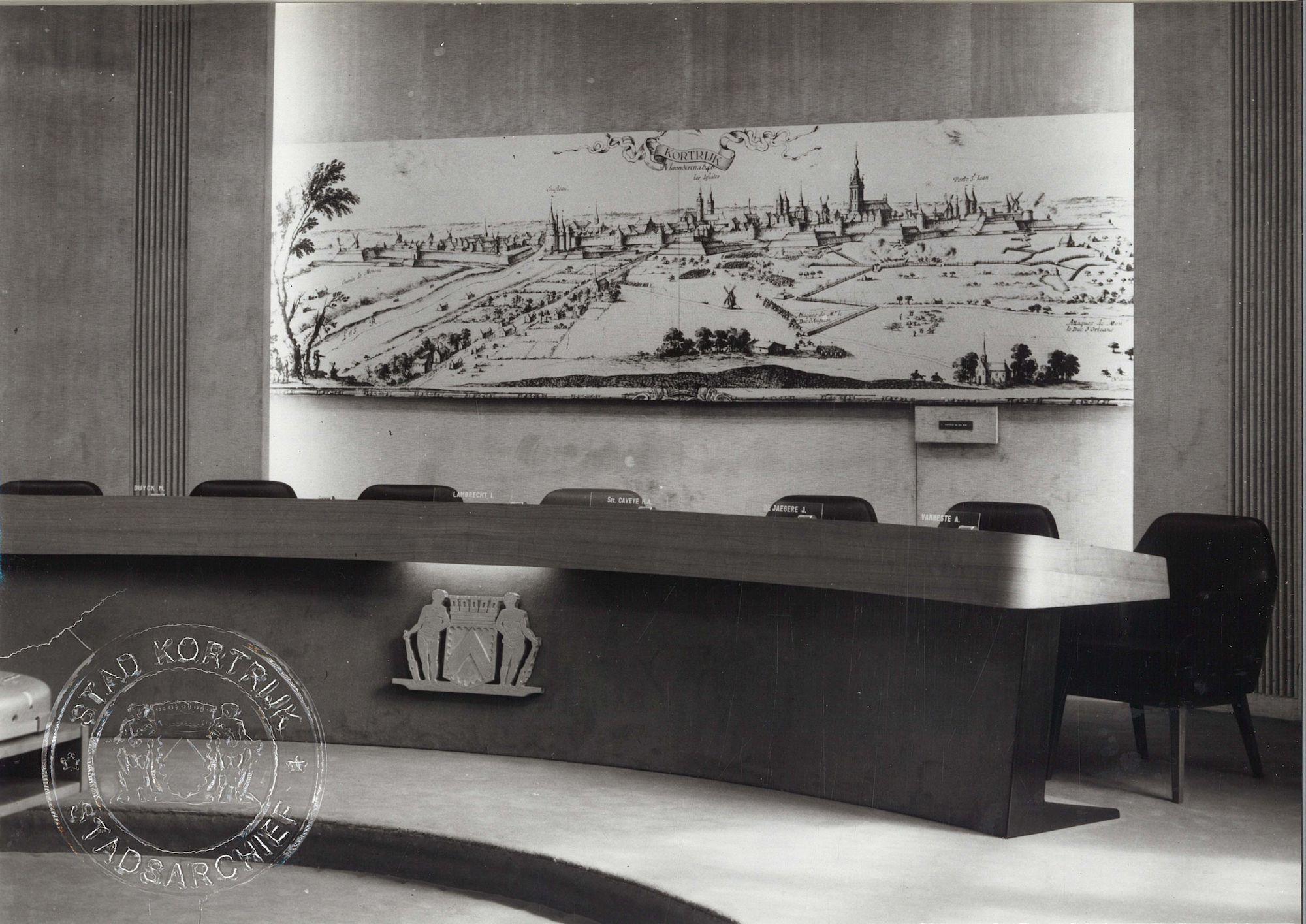 Raadzaal Kortrijkse stadhuis