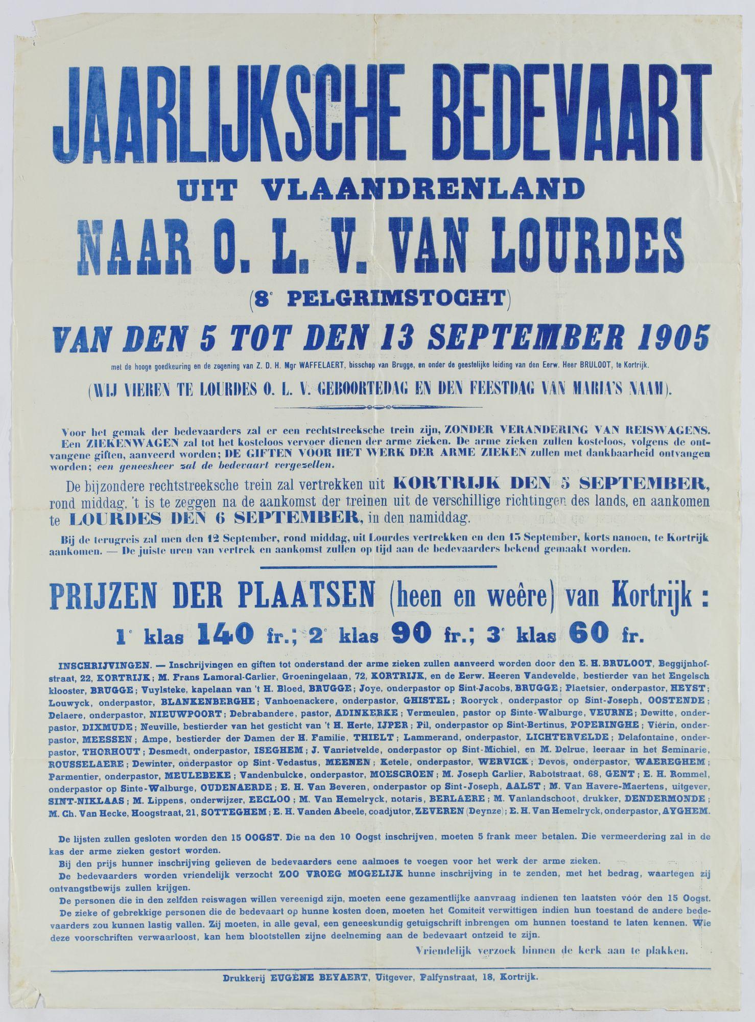 Bedevaart Lourdes 1905
