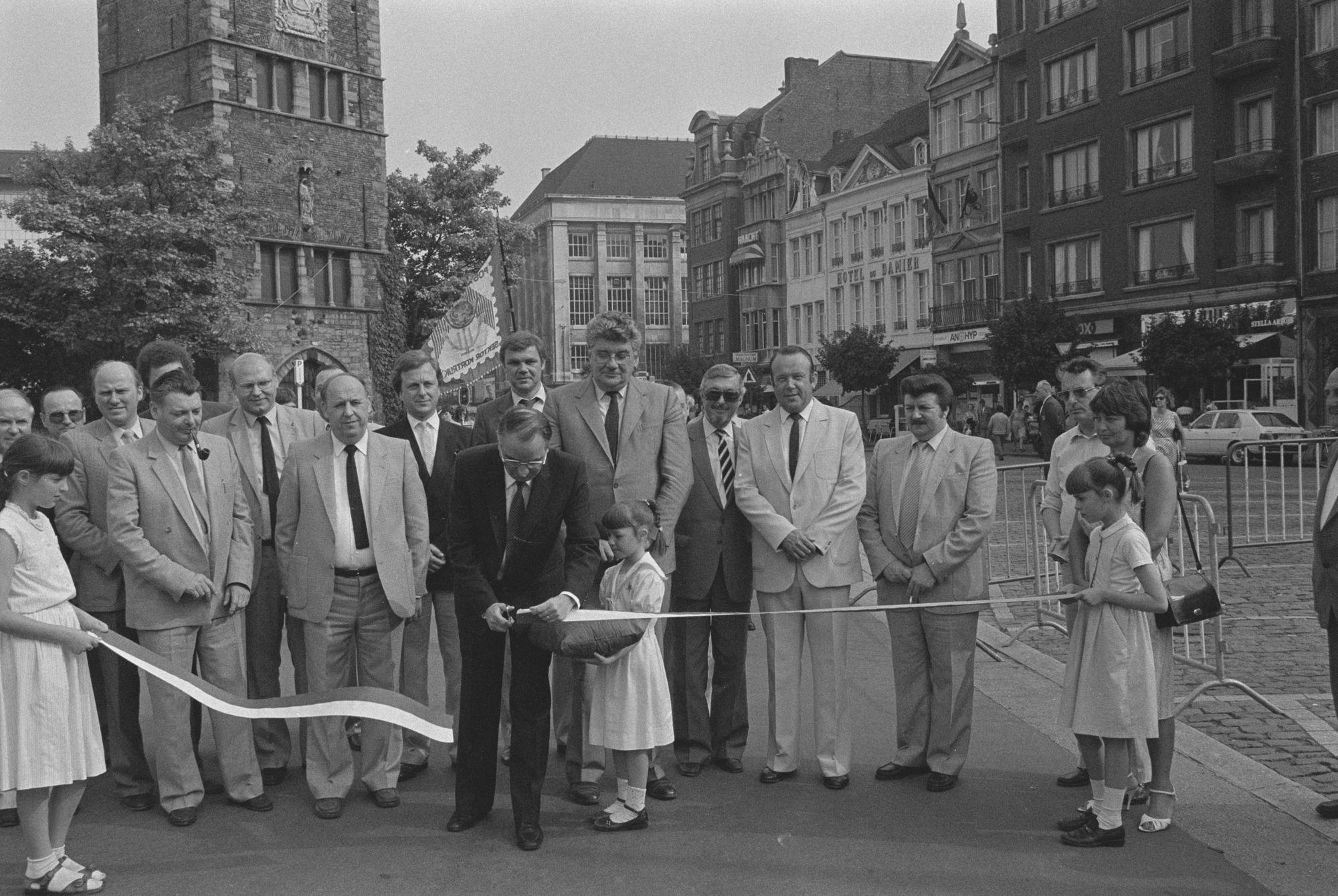 Opening van de braderie centrum in 1983