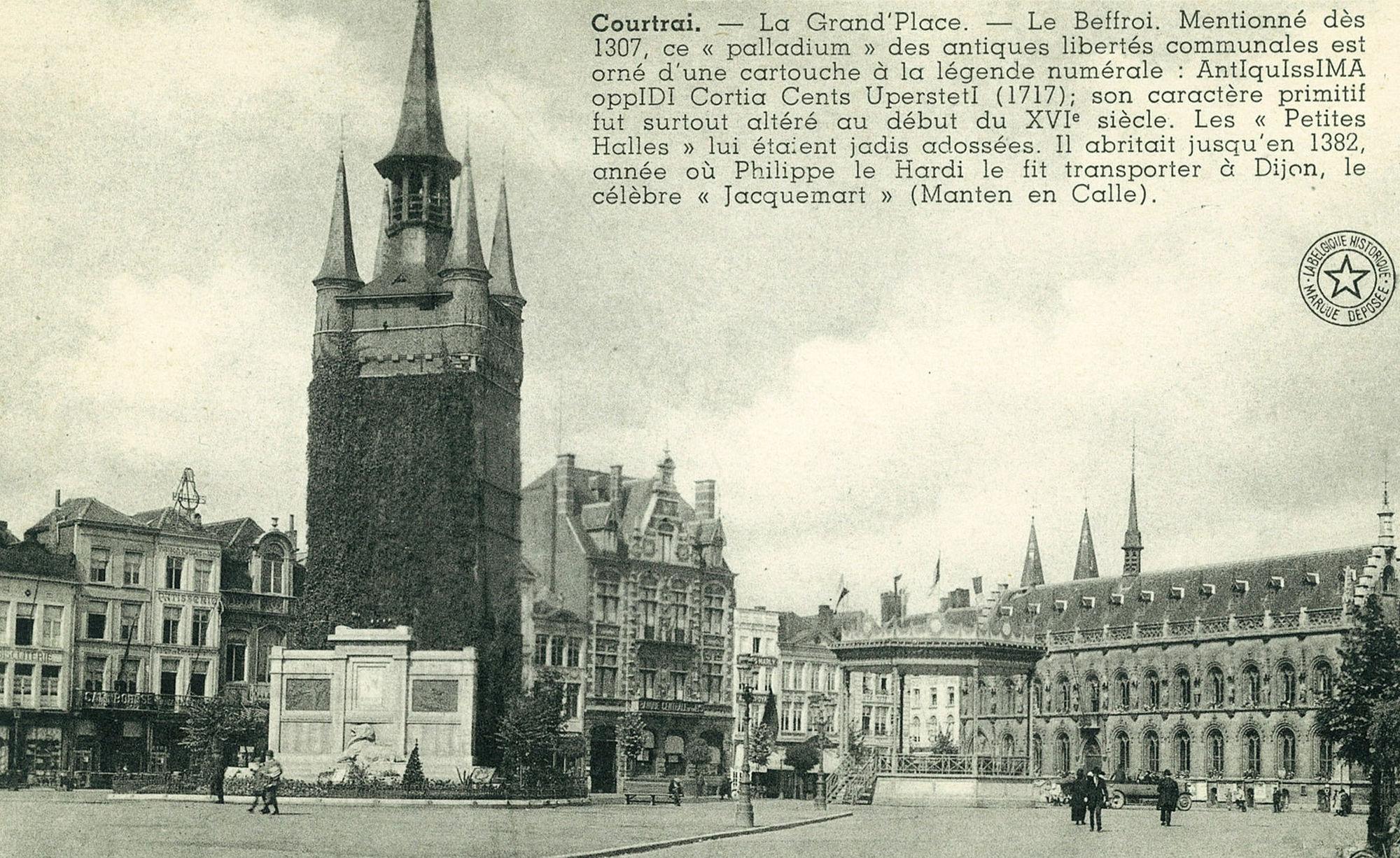Belfort met zicht op de Grote Markt