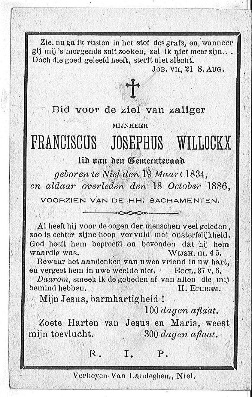 Franciscus Josephus Willockx