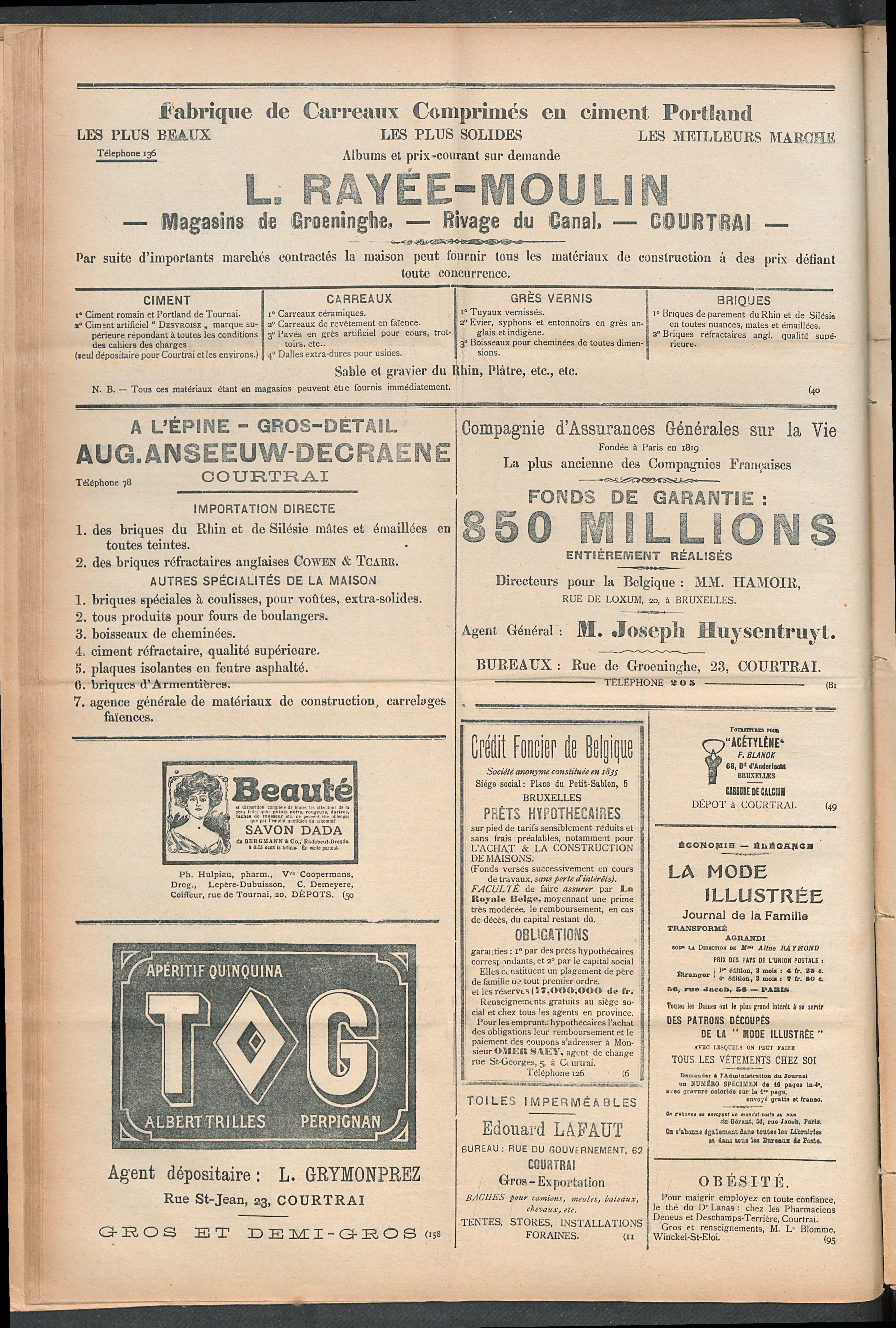 L'echo De Courtrai 1910-09-01 p4