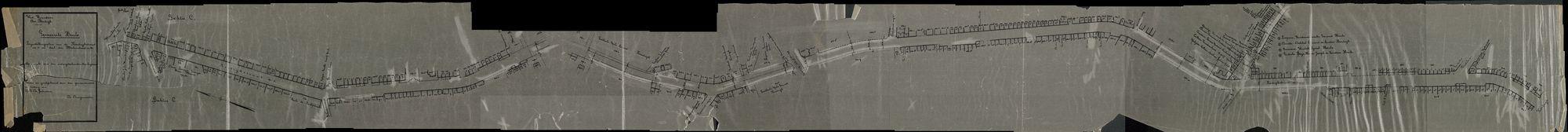 Plan van de Kortrijksestraat en een deel van de Molenstraat in Heule, 2de helft 20ste eeuw