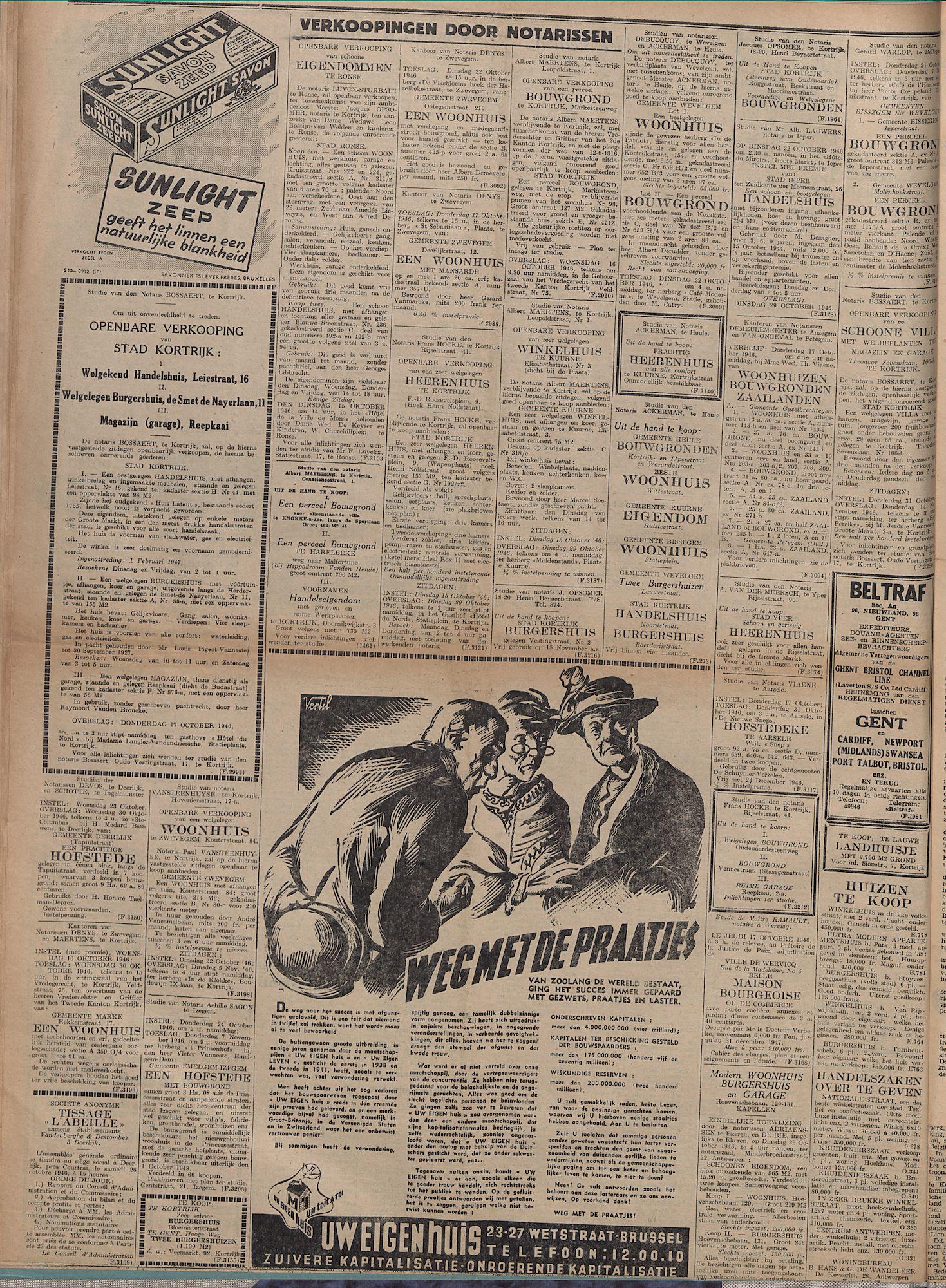 Kortrijksch Handelsblad 11 oktober 1946 Nr82 p4
