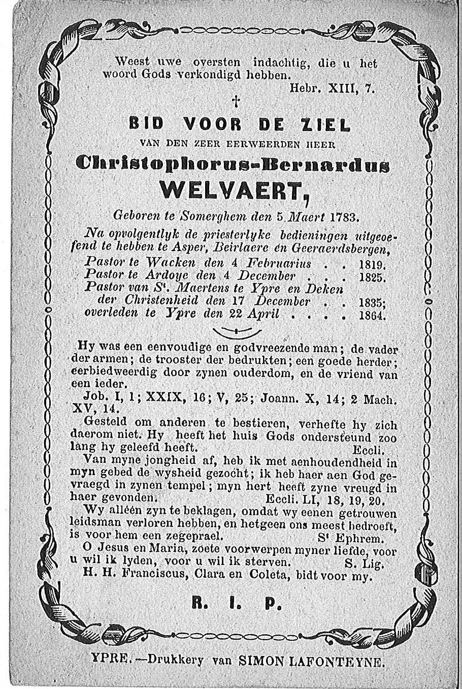 Christophorus-Bernardus Welvaert