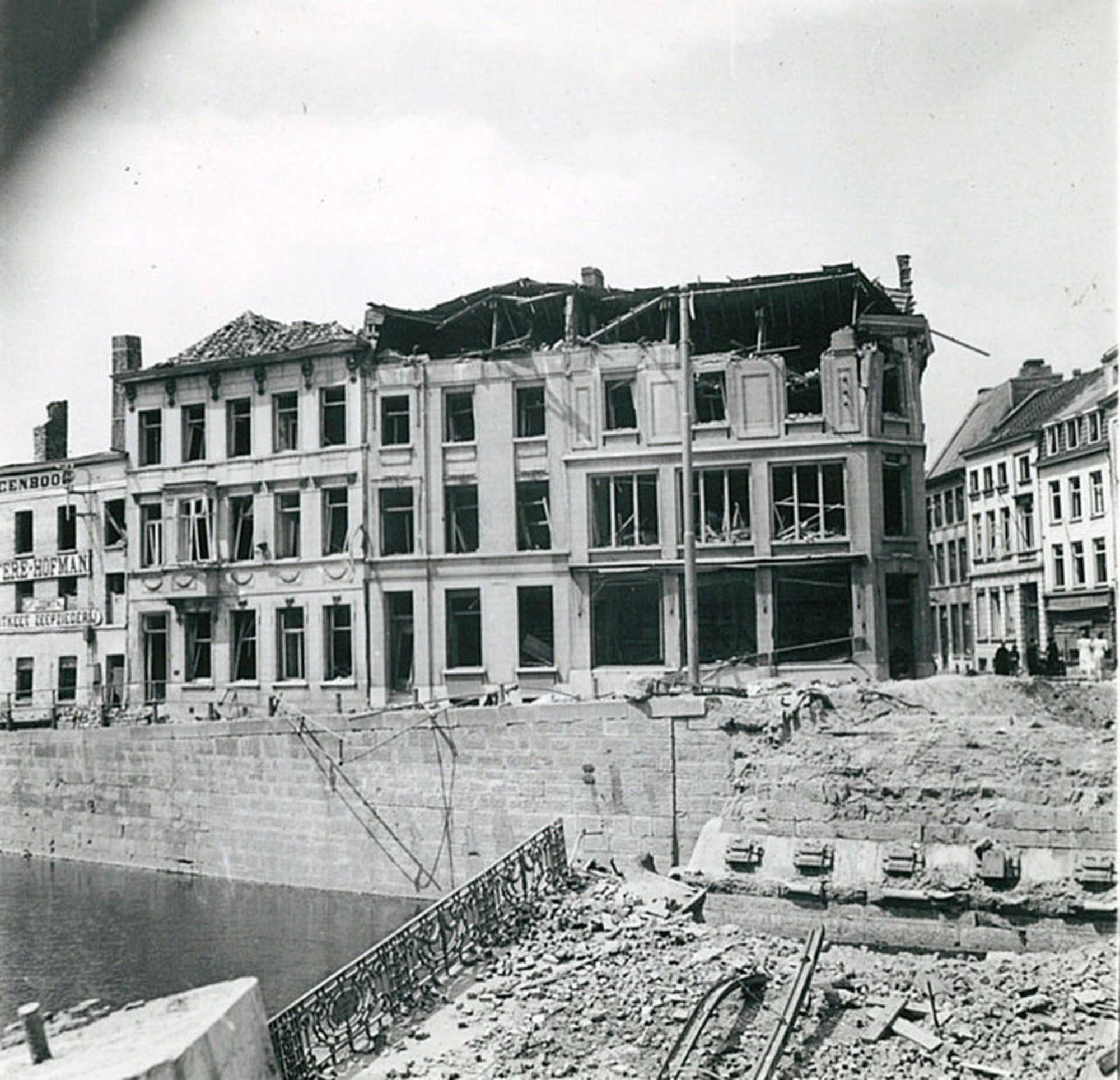 De Leiebrug in 1940