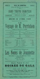 """Paasfoor 1899: Blijspel """"Voyage de M. Perrichon"""""""