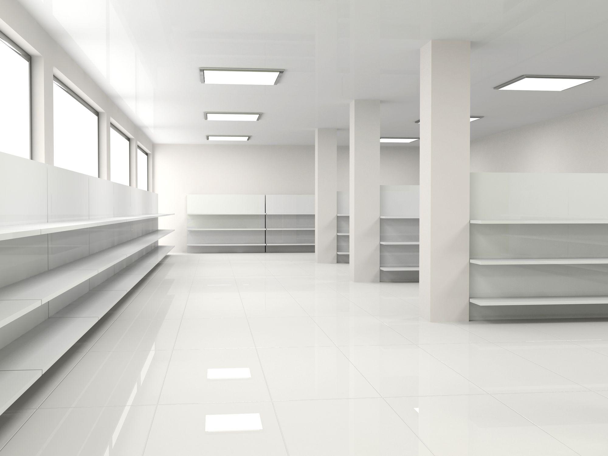 11908581 - white empty hall with shelf