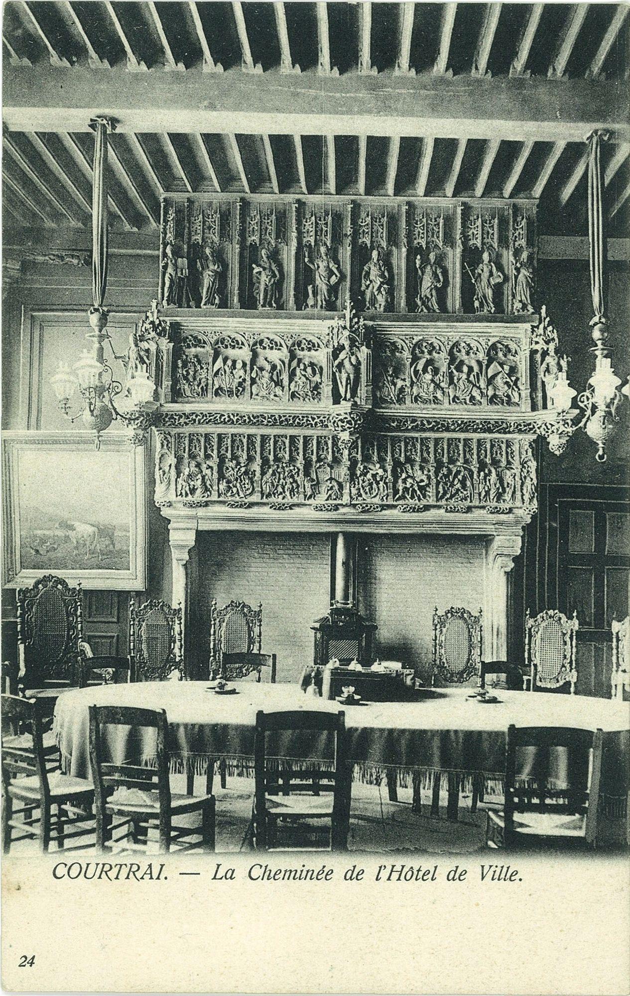De Raadzaal in het Kortrijkse Stadhuis