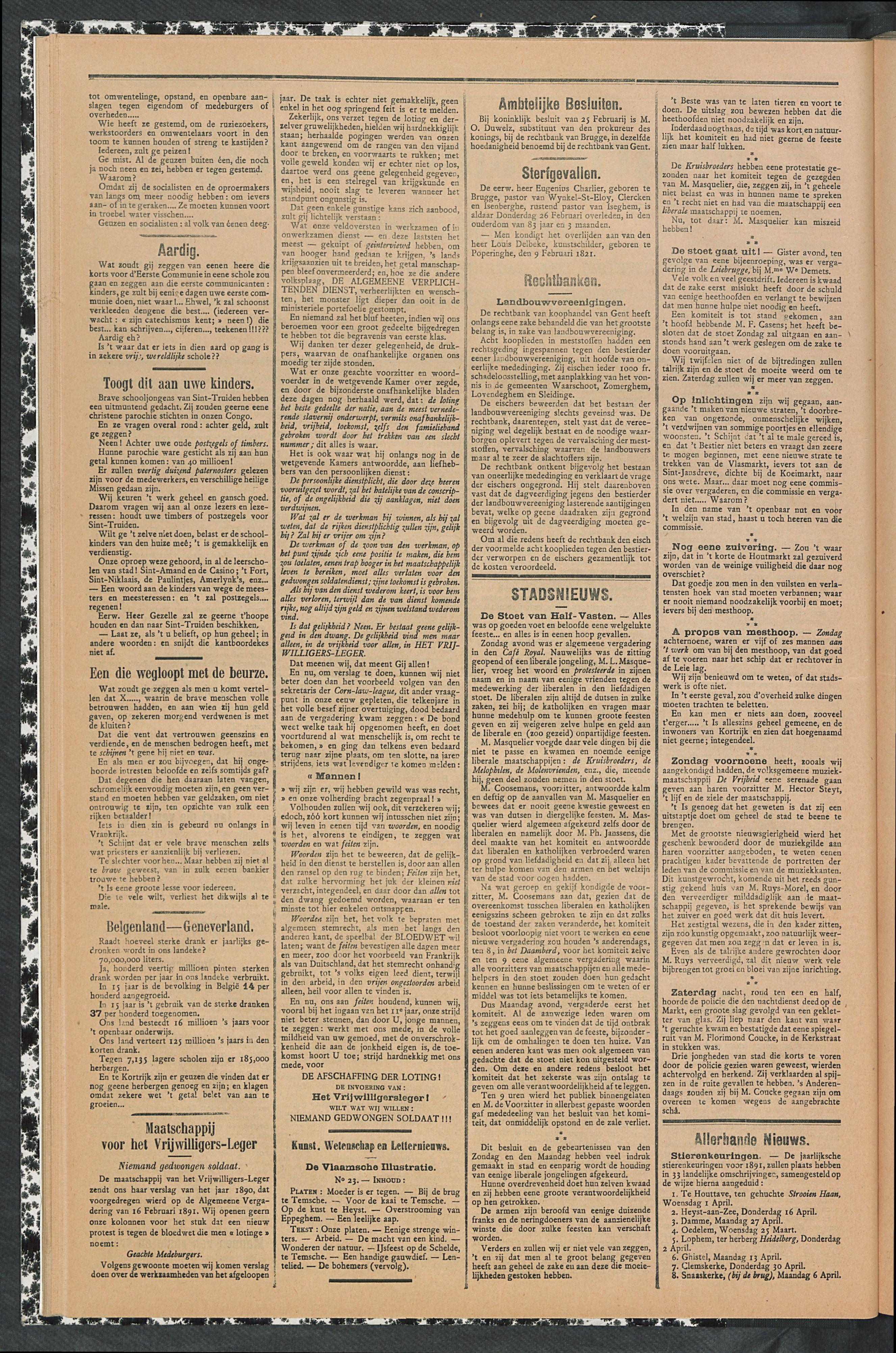 Gazette Van Kortrijk 1891-03-05 p2