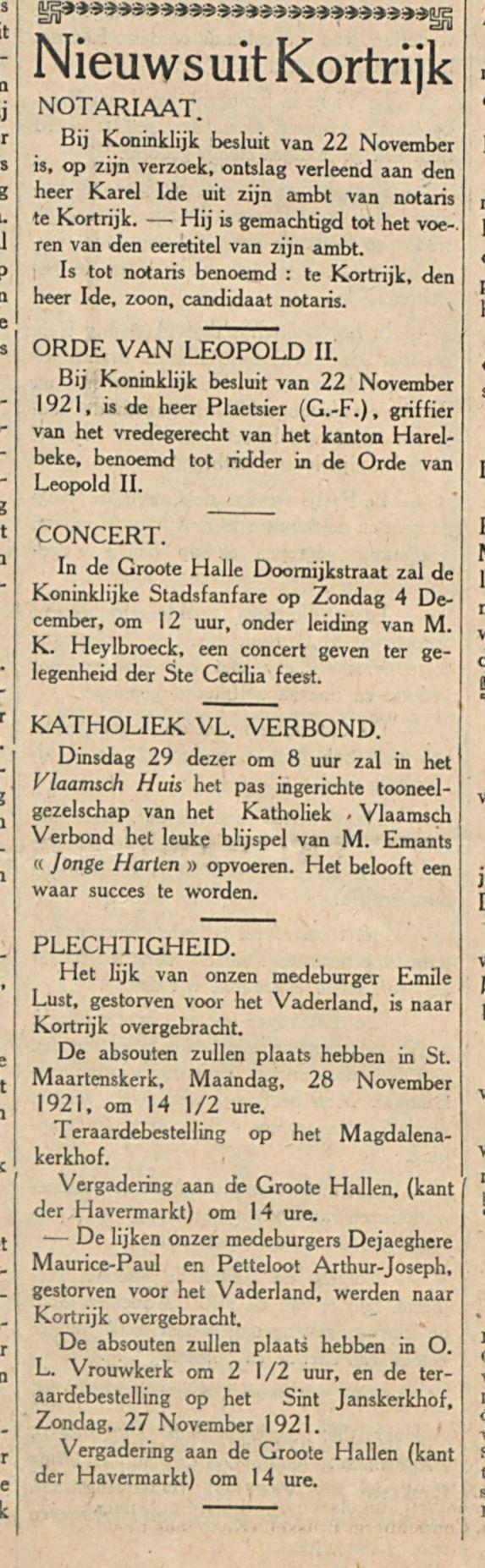 Nieuws uit Kortrijk