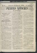 Petites Affiches De Courtrai 1842-01-30