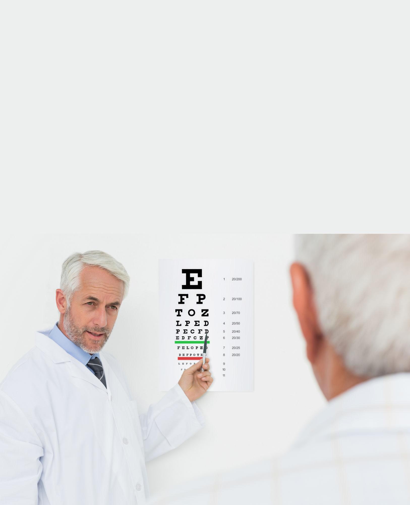 Patiënt bij oogarts