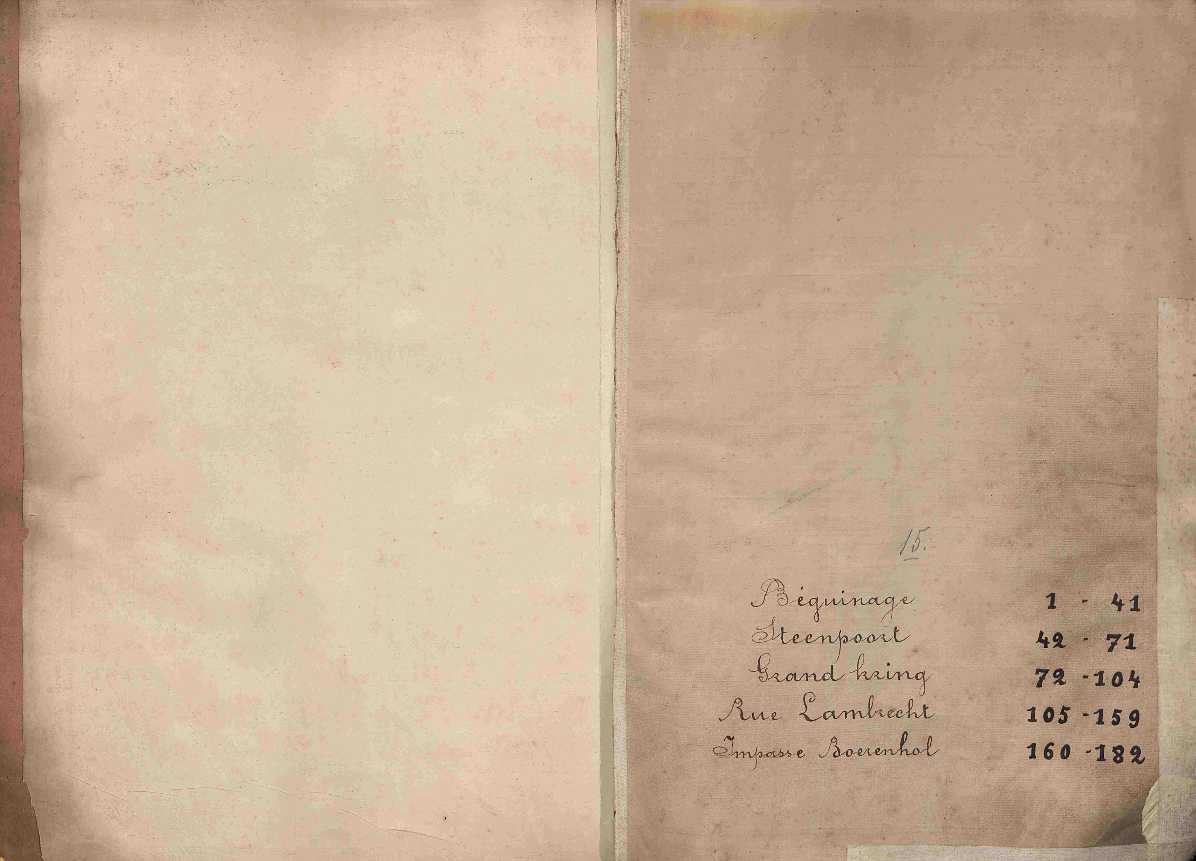 Bevolkingsregister Kortrijk 1890 boek 15