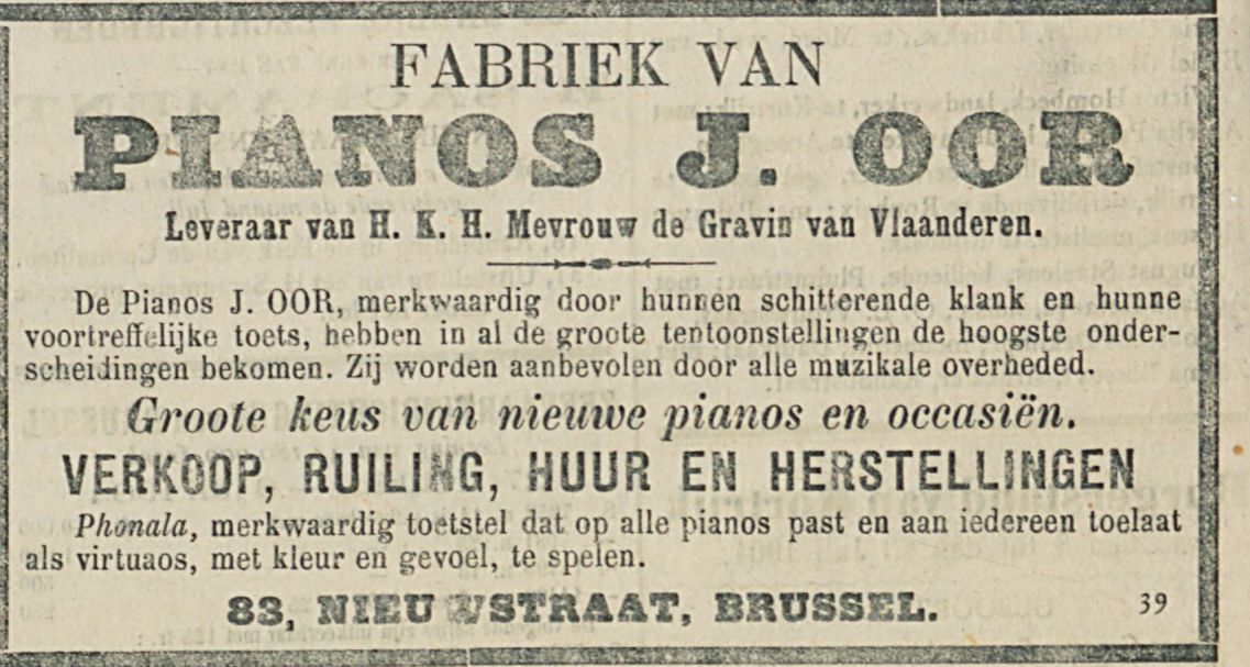 PIANOS J OOR