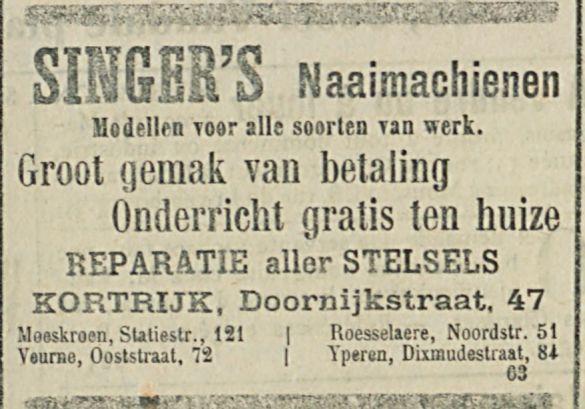 SINGERS Naaimachienen