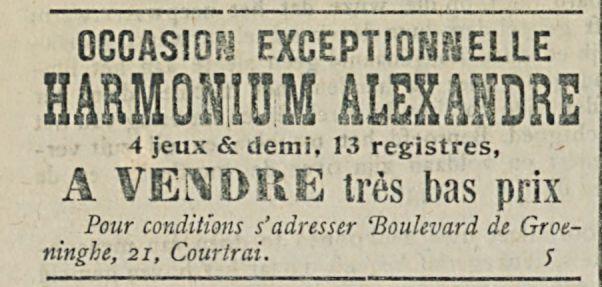 HARMONIUM ALEXANDRE