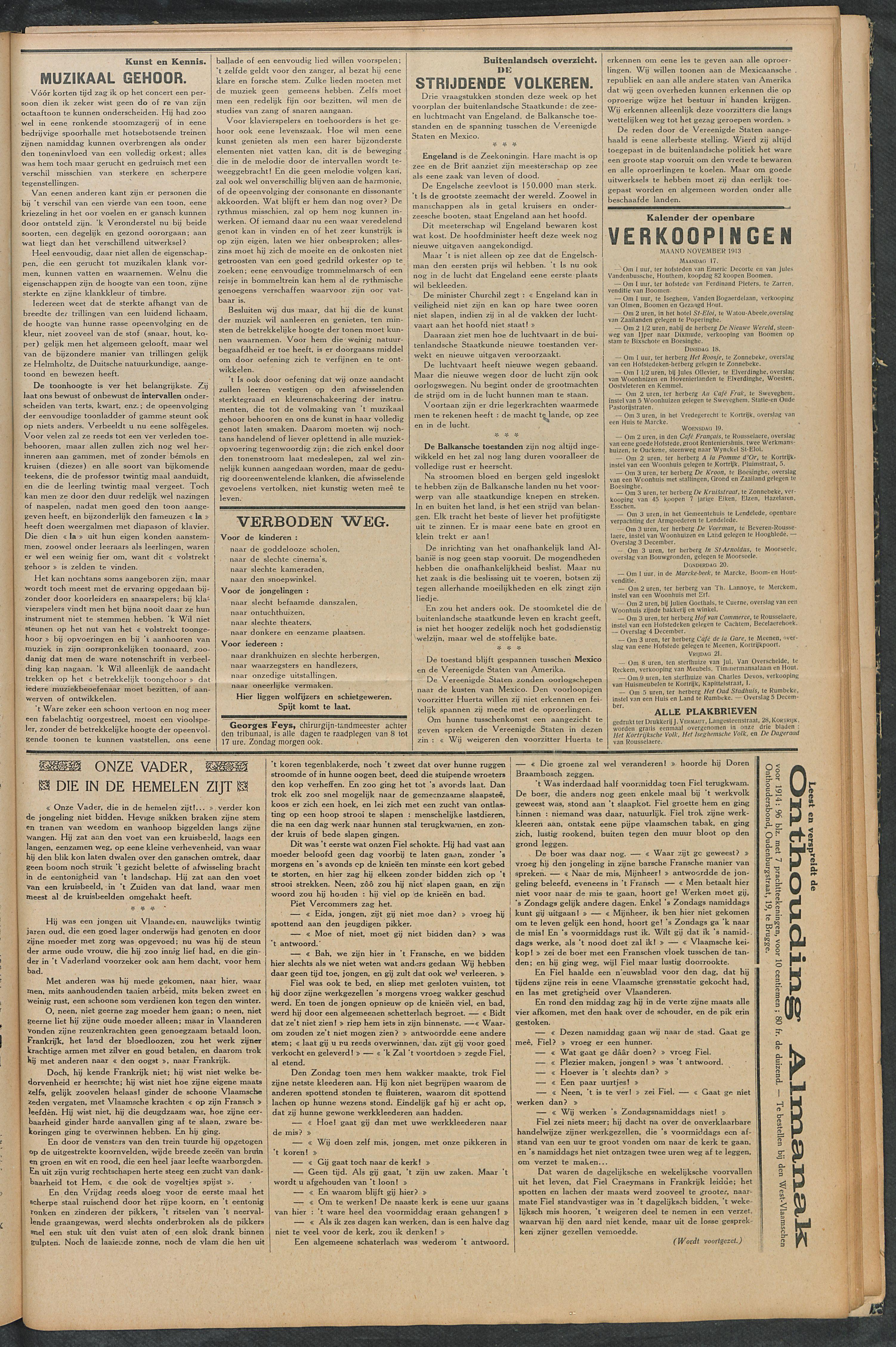 Het Kortrijksche Volk 1913-11-16 p5