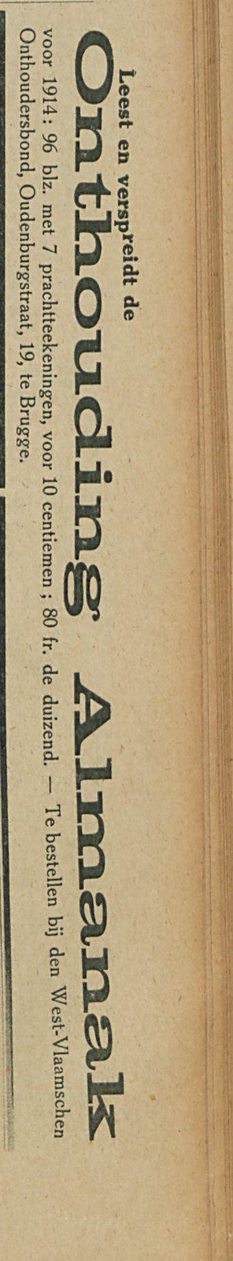 Onthouding Almanak