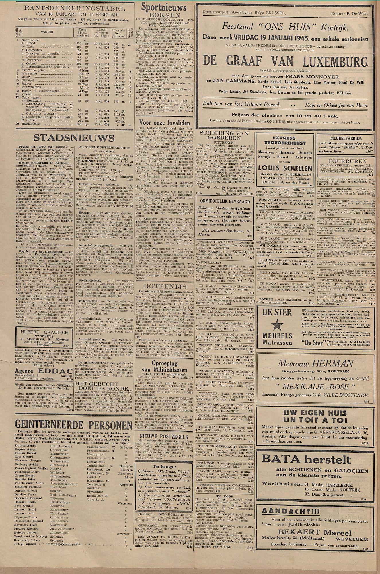 Kortrijksch Handelsblad 17 januari 1945 Nr5 p2